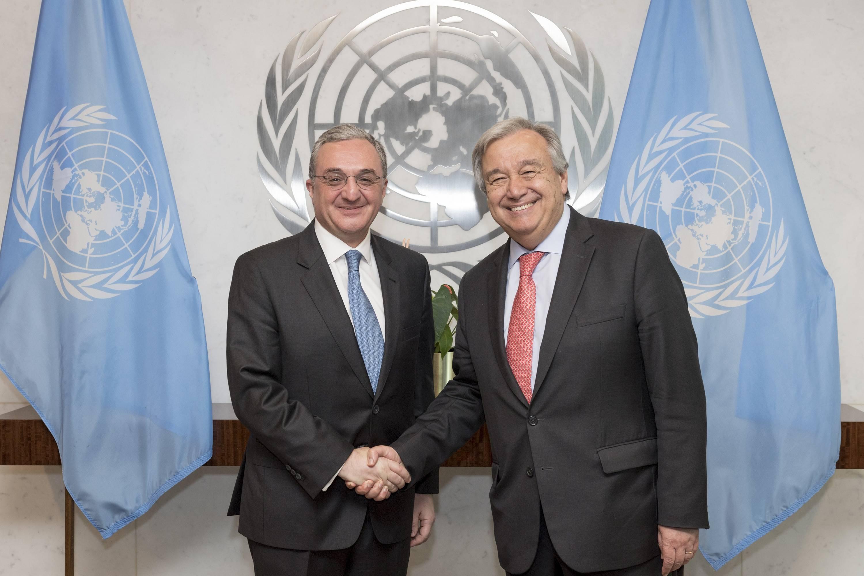 ԱԳ նախարար Մնացականյանը հանդիպեց ՄԱԿ-ի գլխավոր քարտուղար Գուտերեշին
