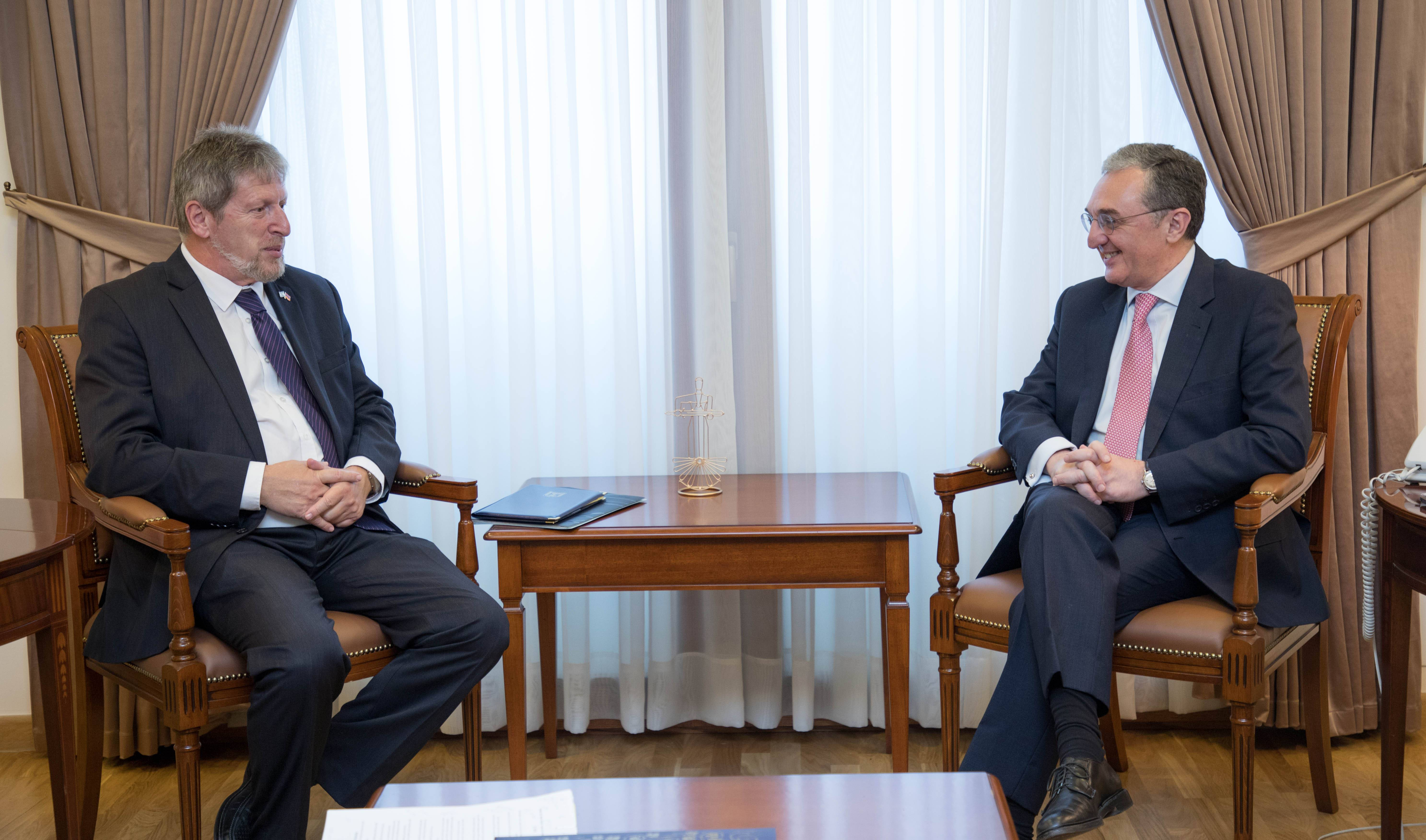 Foreign Minister of Armenia received Deputy Director General and Director of the Eurasia Department of the Foreign Ministry of Israel