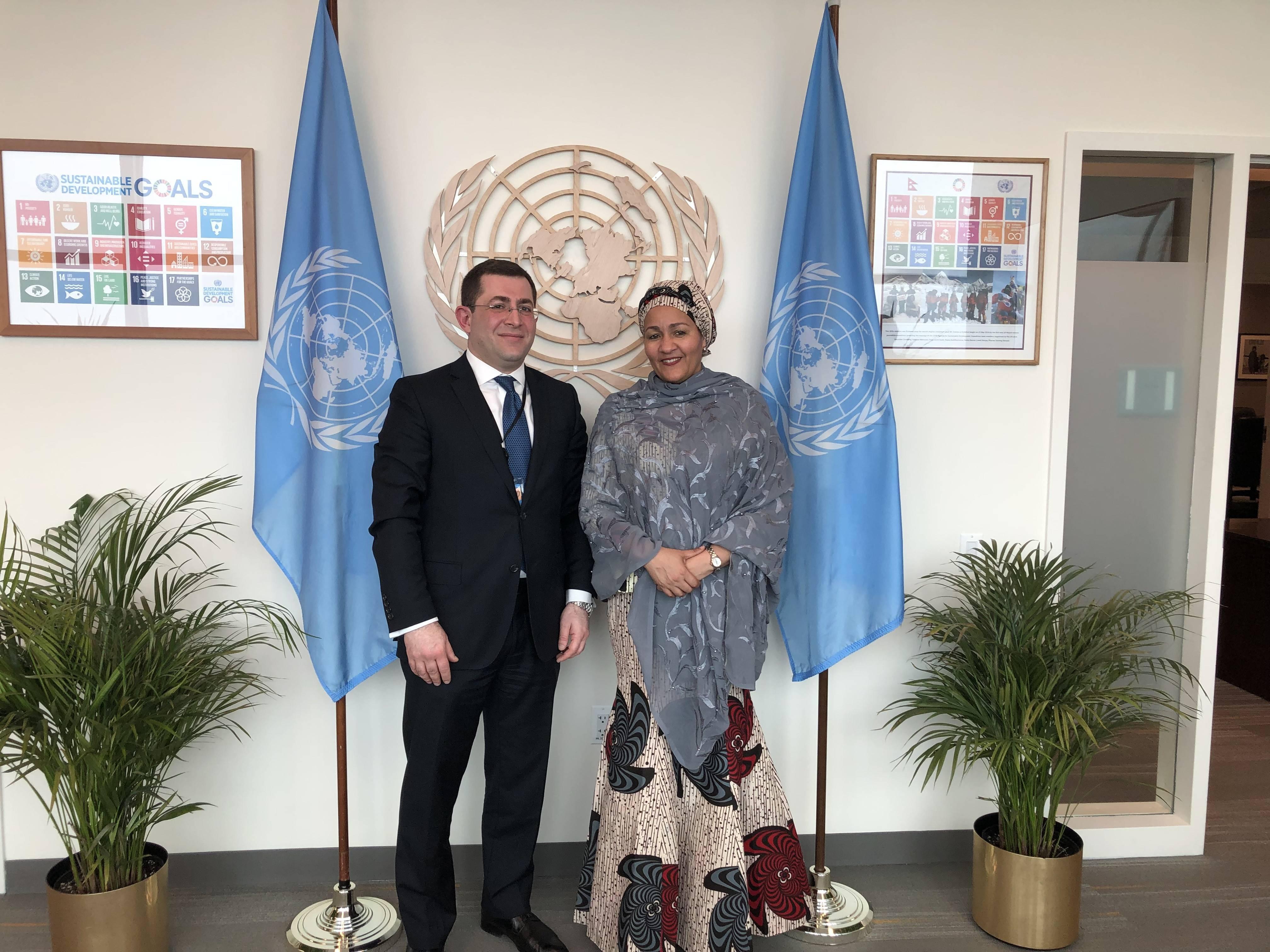 ՄԱԿ-ում Հայաստանի մշտական ներկայացուցիչը հանդիպեց ՄԱԿ-ի գլխավոր քարտուղարի առաջին տեղակալի հետ