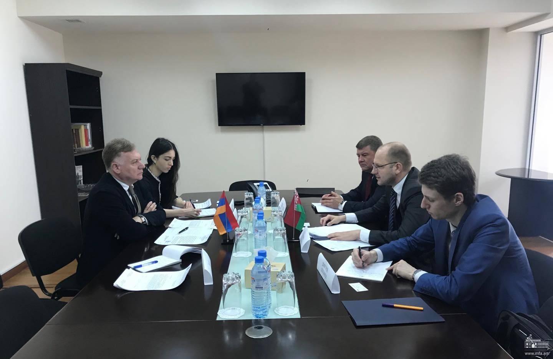 Հայաստանի և Բելառուսի ԱԳՆ-ների միջև կայացան համաեվրոպական թեմատիկայով խորհրդակցություններ