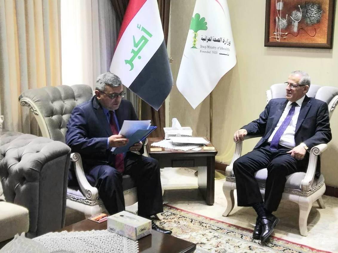 Դեսպան Փոլադյանի հանդիպումը Իրաքի առողջապահության նախարարի հետ