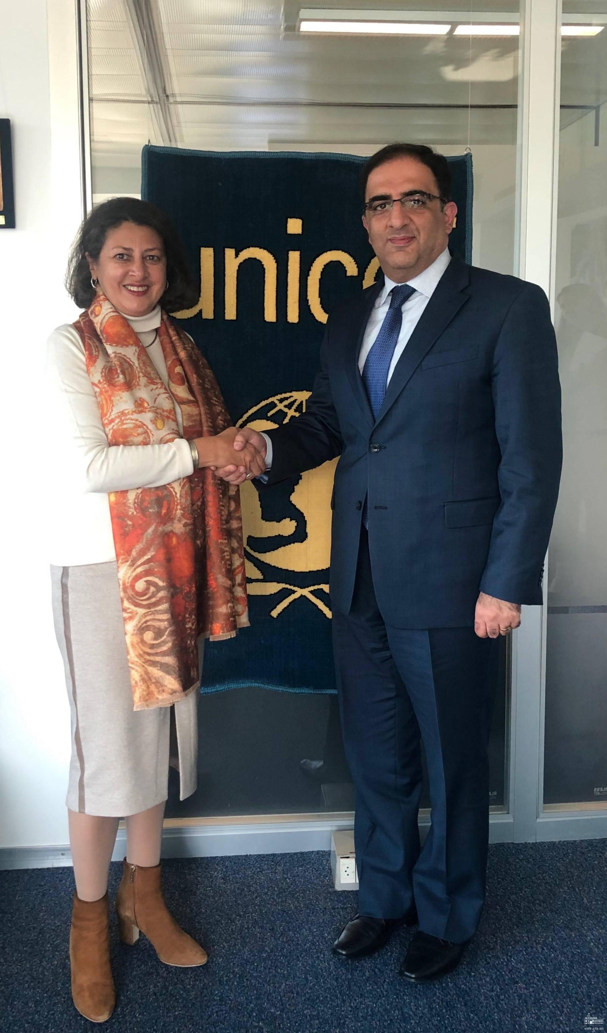 ՀՀ մշտական ներկայացուցչի հանդիպումը ՄԱԿ-ի մանկական հիմնադրամի տարածաշրջանային տնօրենի հետ