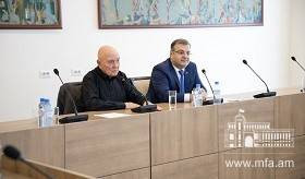 Gérard Chaliand, an expert in geopolitics and conflicts hosted at the Ministry of Foreign Affairs of Armenia