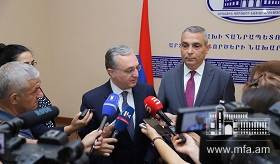 The Meeting of Foreign Minister Zohrab Mnatsakanyan with Masis Mailyan, Foreign Minister of Artsakh