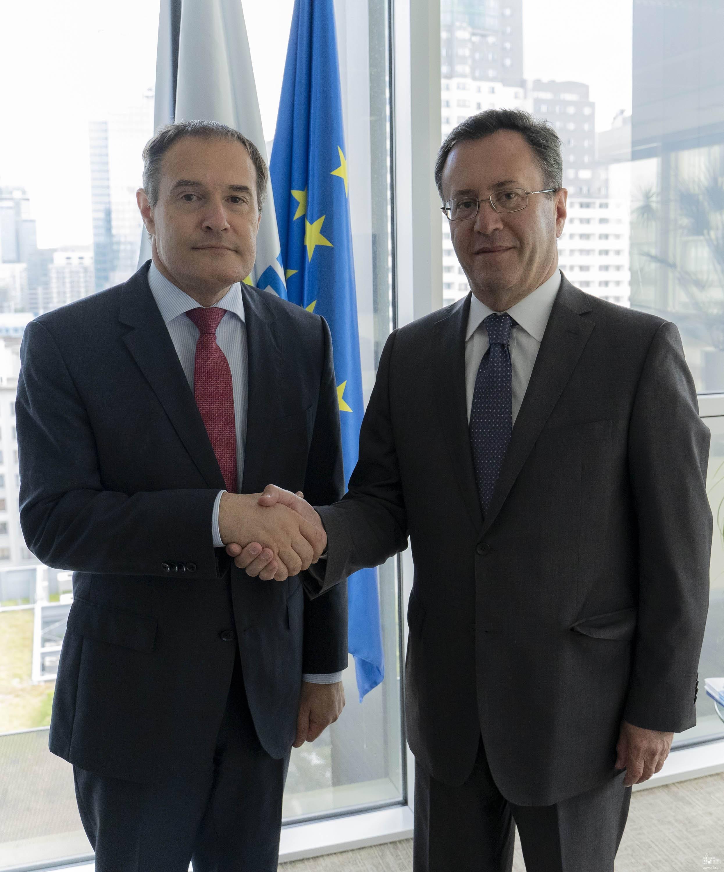 Դեսպան Սամվել Մկրտչյանի հանդիպումը Frontex-ի գործադիր տնօրենի հետ