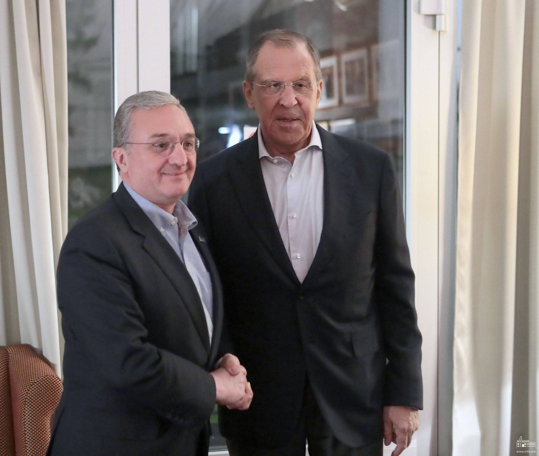 Meeting of Foreign Ministers of Armenia and Russia