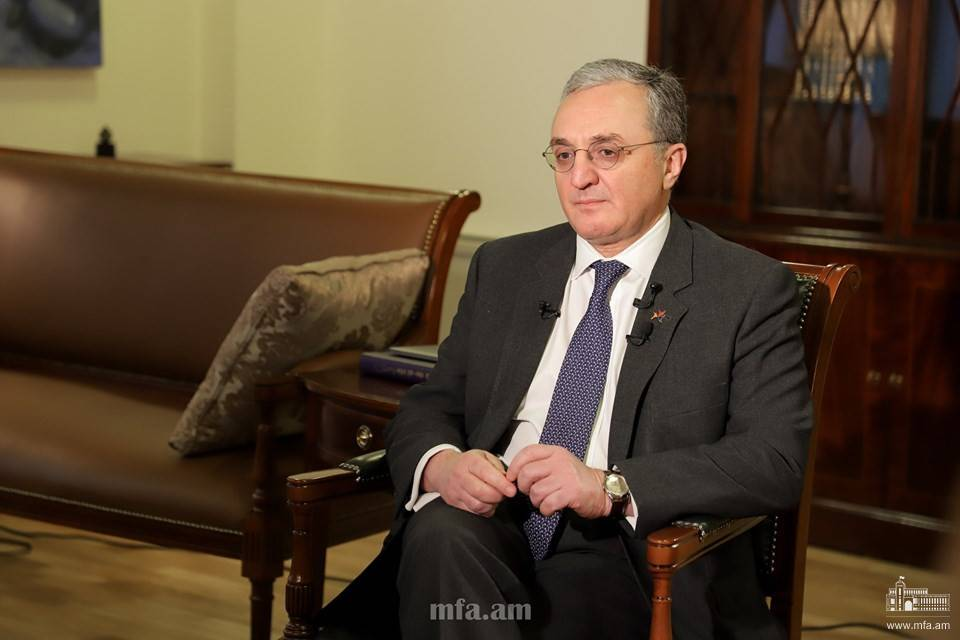 The interview of Armenia Foreign Minister Zohrab Mnatsakanyan to Jonathan Katz, German Marshall Fund Senior Fellow