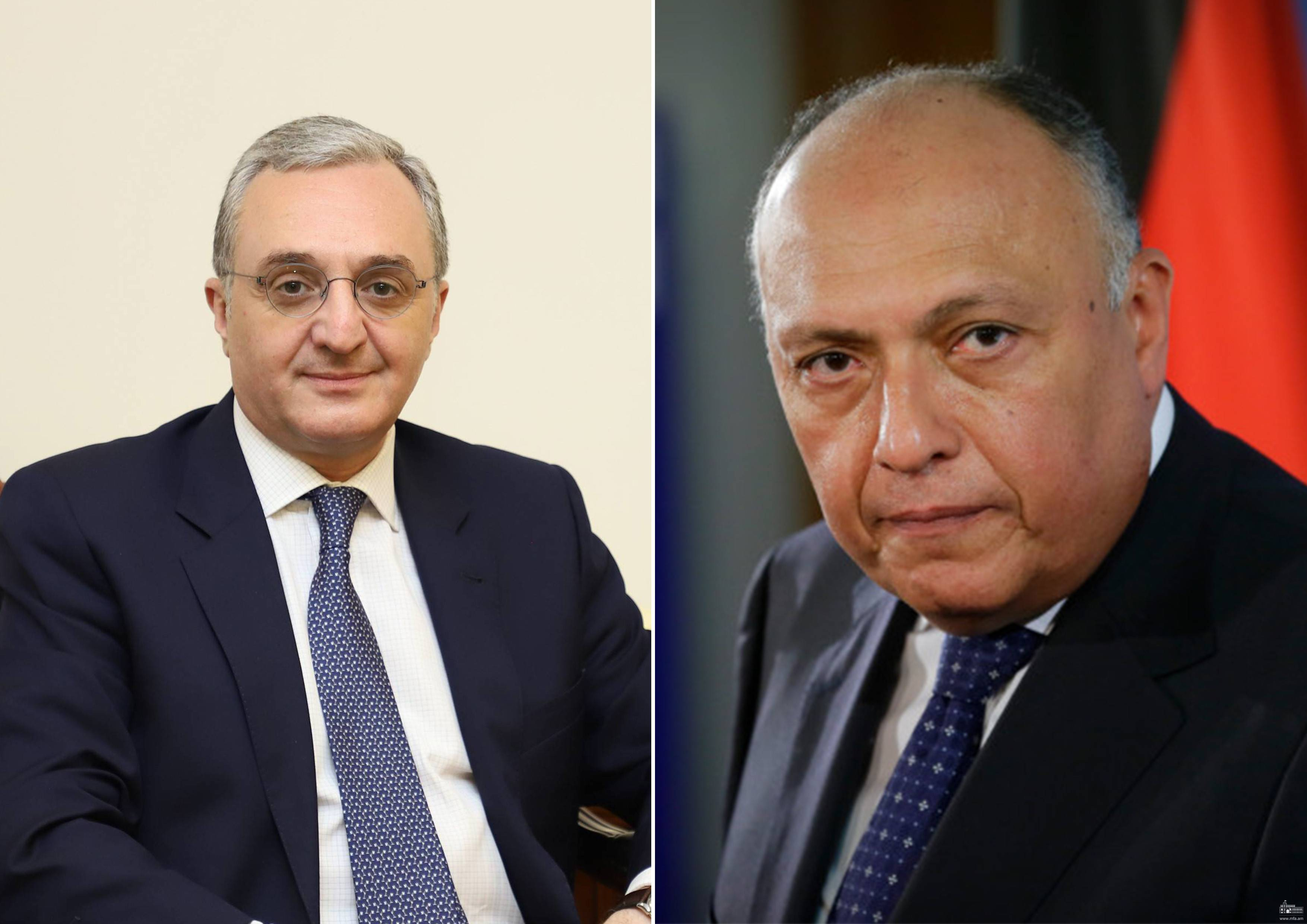Foreign Minister Zohrab Mnatsakanyan had a phone conversation with the Foreign Minister of Egypt