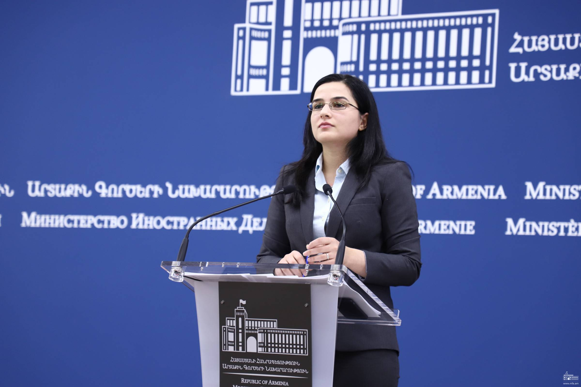 "Answer by the MFA Spokesperson Anna Naghdalyan to the question of ""Aysor.am"" news agency"
