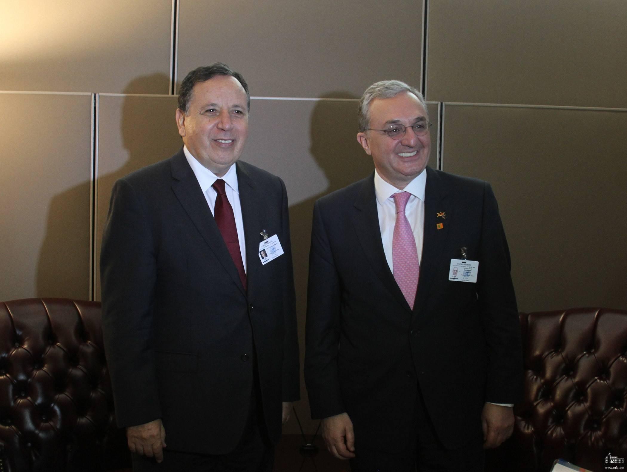 Министр ИД Армении встретился со своим тунисским коллегой