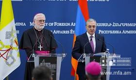 Statement for Press of the Minister of Foreign Affairs of RA on the results of the meeting with the Secretary for Relations with States of Holy See, Archbishop Paul Richard Gallagher