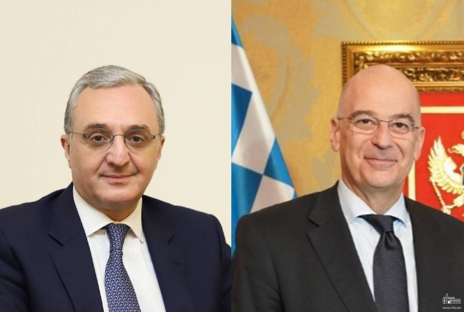 Foreign Minister of Armenia Zohrab Mnatsakanyan had a phone conversation with Nikos Dendias, Minister of Foreign Affairs of Greece