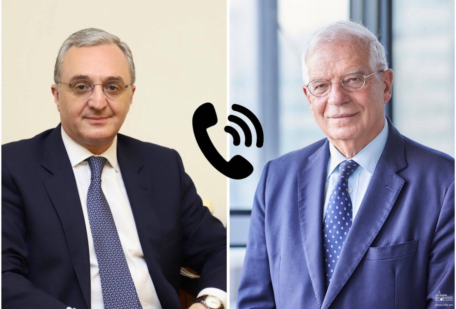 Phone conversation between Foreign Minister of Armenia Zohrab Mnatsakanyan and Josep Borrell, High Representative of the EU for Foreign Affairs and Security Policy, Vice-President of the European Commission