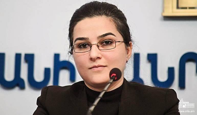 Réponse de la porte-parole du MAE d'Arménie aux questions de l'agence de presse «Armenpress»