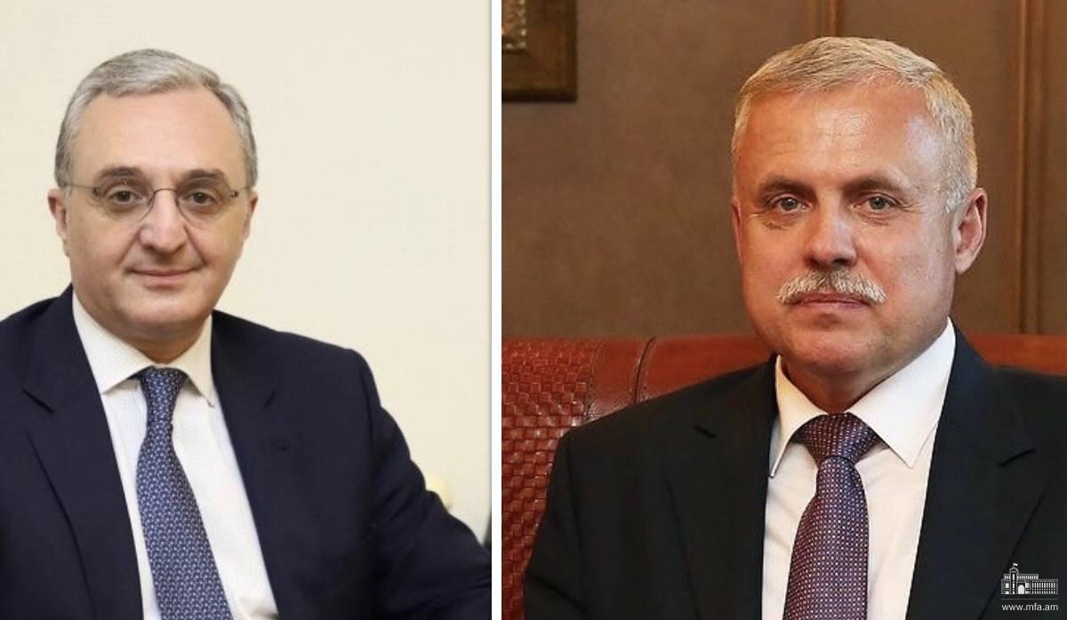 Телефонный разговор Министра иностранных дел Армении с Генеральным секретарем ОДКБ