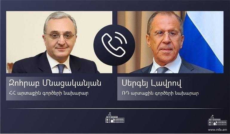 Phone conversation of Foreign Minister Zohrab Mnatsakanyan with Sergey Lavrov, the Foreign Minister of Russia