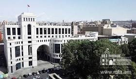 Statement by the Foreign Ministry of Armenia on the statement of the Turkish Foreign Ministry