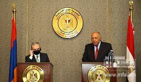 Remarks and answer to a question of journalist by Foreign Minister Zohrab Mnatsakanyan during the joint press conference with Foreign Minister of Egypt Sameh Shoukry