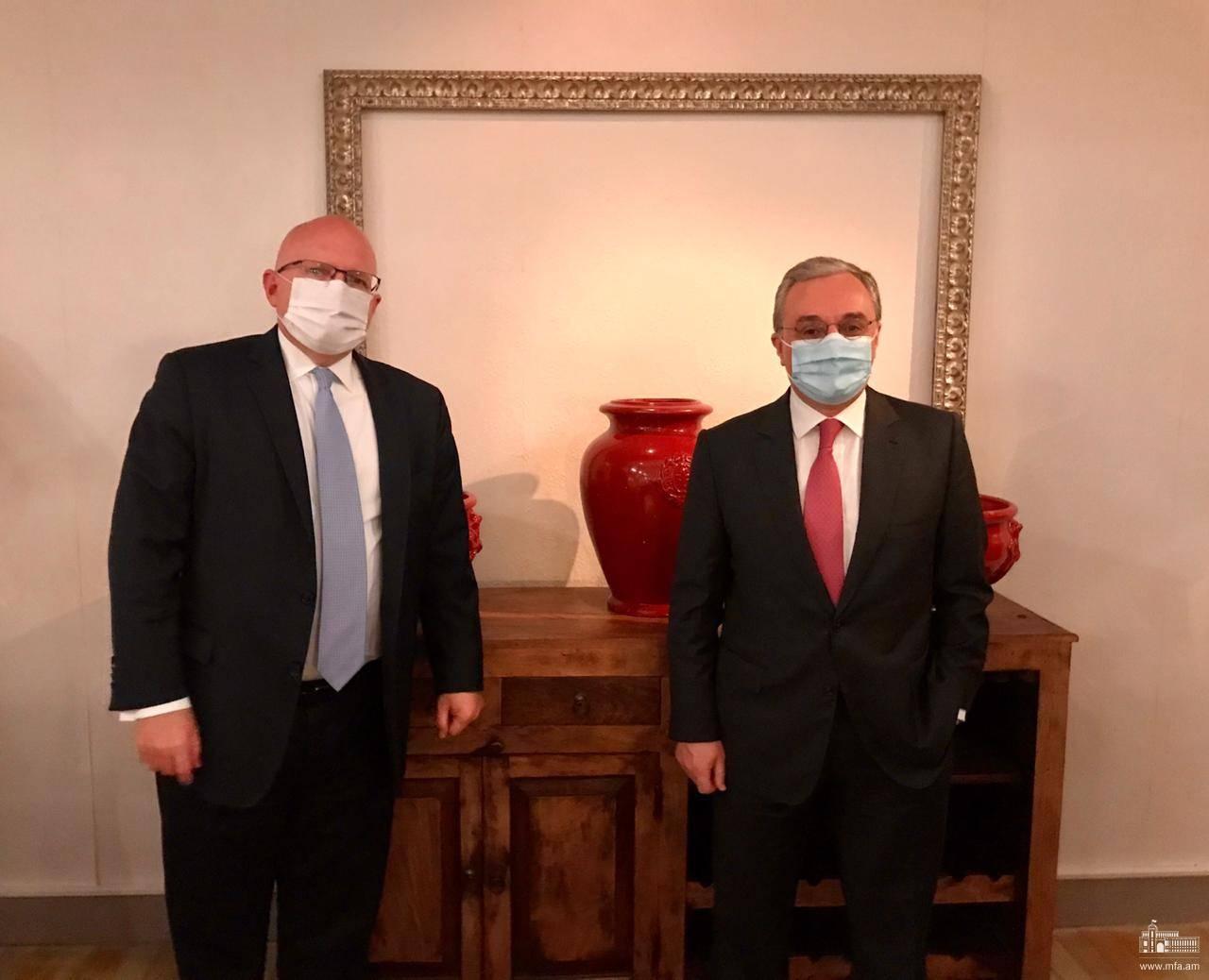ԱԳ նախարար Զոհրաբ Մնացականյանի հանդիպումը ԱՄՆ պետքարտուղարի եվրոպական և եվրասիական հարցերով տեղակալ Ֆիլիպ Ռիքերի հետ