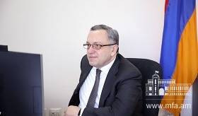 Video call between Deputy Foreign Minister of Armenia and State Secretary at the Ministry of Foreign Affairs of Slovenia