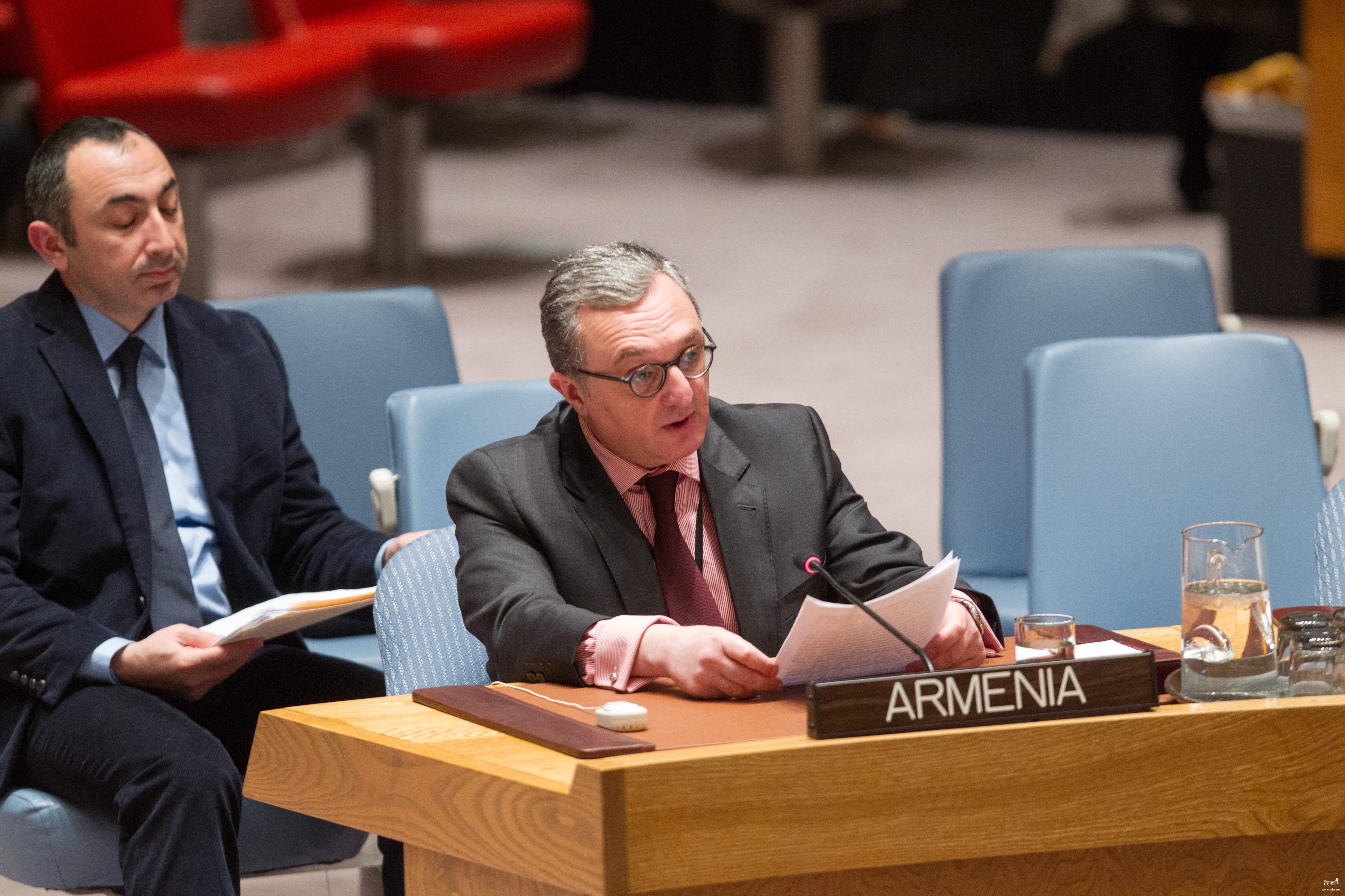 """Ambassador Mnatsakanyan participated in the UNSC Open Debate on """"Protection of Civilians in Armed Conflict"""""""