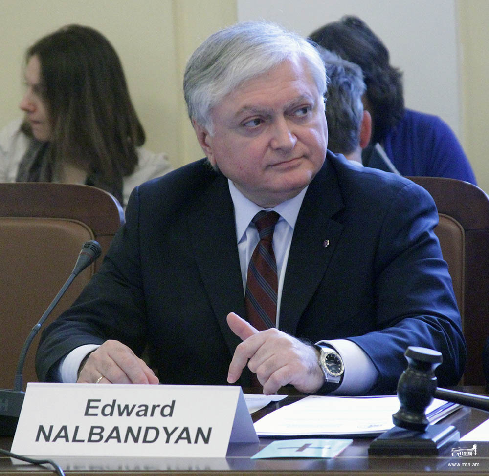 The statement by Foreign Minister Edward Nalbandian on the adoption in the Senate of France of the provision on criminalization the denial of the Armenian Genocide