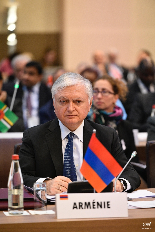 Выступление министра иностранных дел Армении относительно подготовительных работ к Ереванскому саммиту Франкофонии