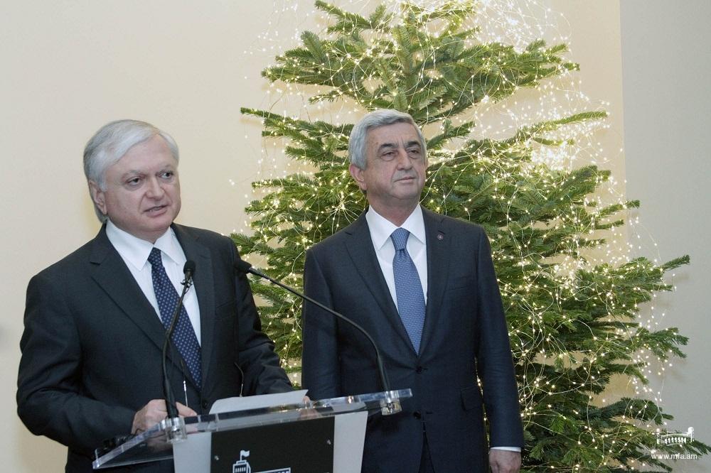 Вступительное слово министра иностранных дел на приеме  в Министерстве иностранных дел Армении по случаю праздников Нового Года и Святого Рождества