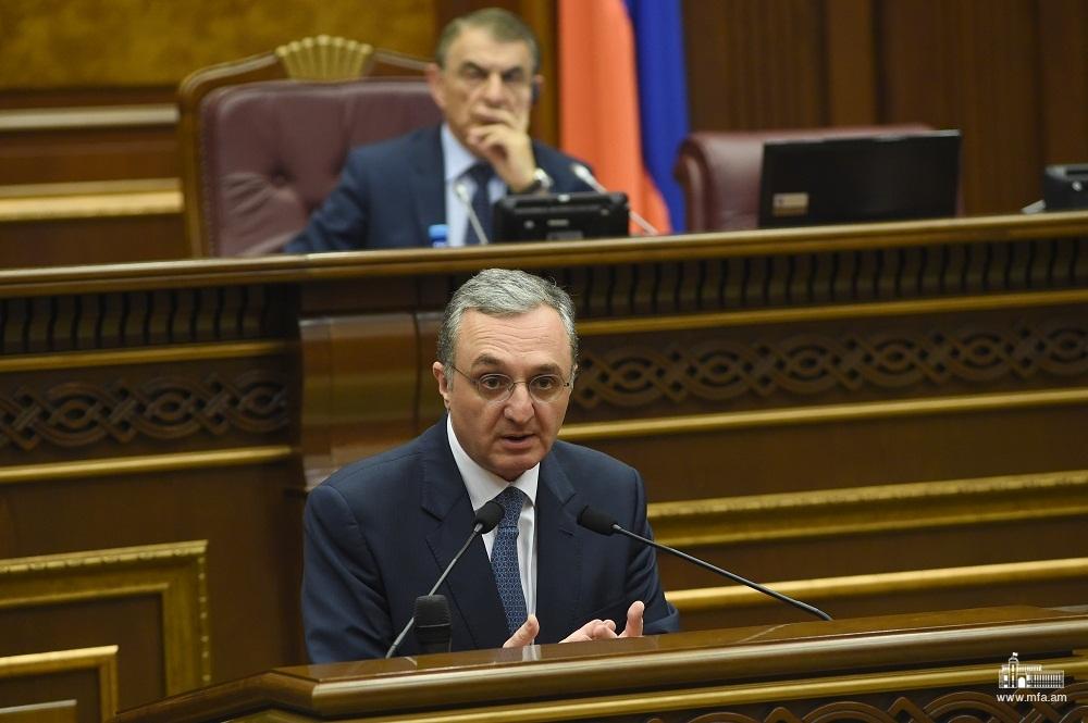 Ответы министра иностранных дел Зограба Мнацаканяна во время сессии вопросов и ответов с правительством в Национальном Собрании