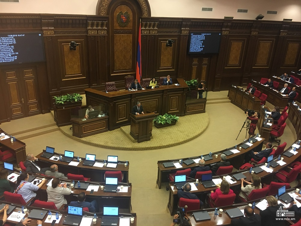 Answers of Minister of Foreign Affairs Zohrab Mnatsakanyan in the National Assembly during the Q&A session with the Government