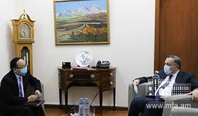 Deputy Foreign Minister Avet Adonts met with Ambassador of the People's Republic of China to Armenia Fan Yong