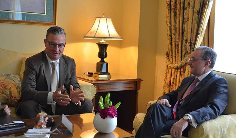 Le Ministre des Affaires étrangères d'Arménie a eu une rencontre avec le Président du Forum germano-arménien