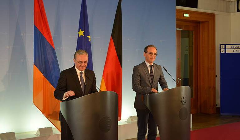 Remarks by Zohrab Mnatsakanyan at the joint press conference with Foreign Minister of Germany Heiko Maas