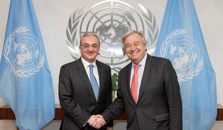 Zohrab Mnatsakanyan had a meeting with the Antonio Guterres, Secretary-General of the United Nations