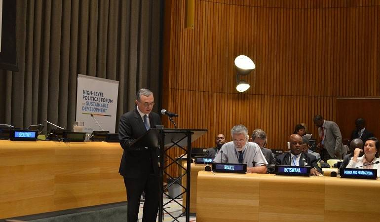 The Foreign Minister delivered remarks at the High-Level Forum on Sustainable Development