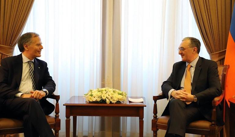 Foreign Minister Zohrab Mnatsakanyan met Enzo Milanesi, Minister of Foreign Affairs and International Cooperation of Italy