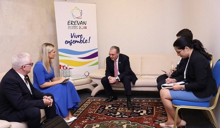 Foreign Minister of Armenia met with Ireland's Minister of State for European Affairs