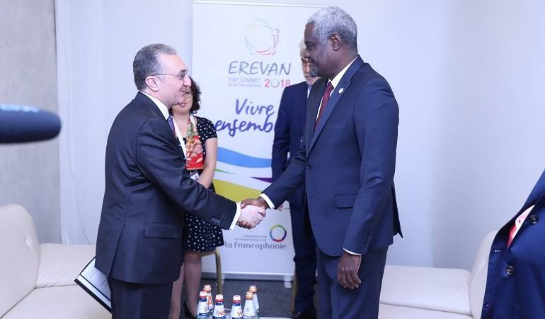Meeting of Armenian Foreign Minister with Chairperson of African Union Commission