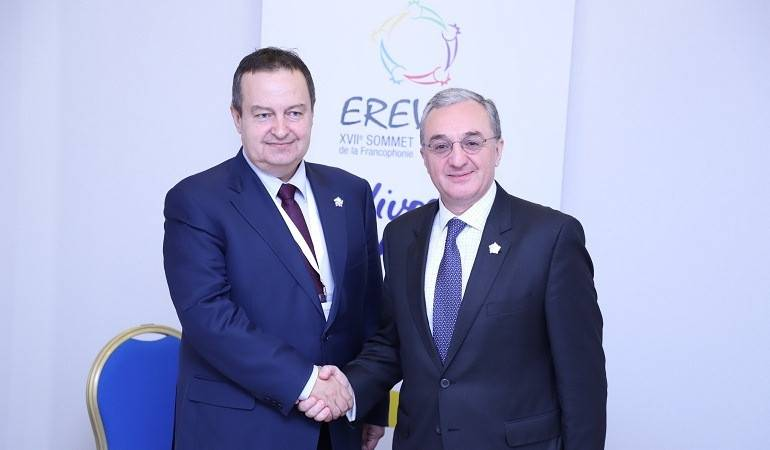 Meeting of Armenian and Serbian Foreign Ministers
