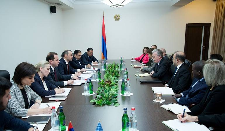 Meeting with US National Security Advisor in the office of the Security Council of the Republic of Armenia