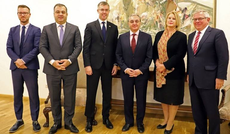 Zohrab Mnatsakanyan received the Ambassadors of Sweden, Finland and Denmark to Armenia