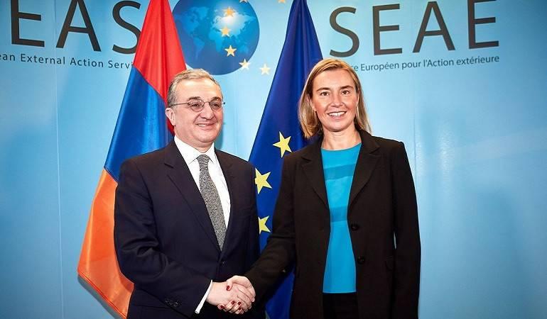 Zohrab Mnatsakanyan a eu une rencontre avec Federica Mogherini