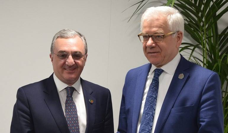 Meeting of Zohrab Mnatsakanyan with the Foreign Minister of Poland