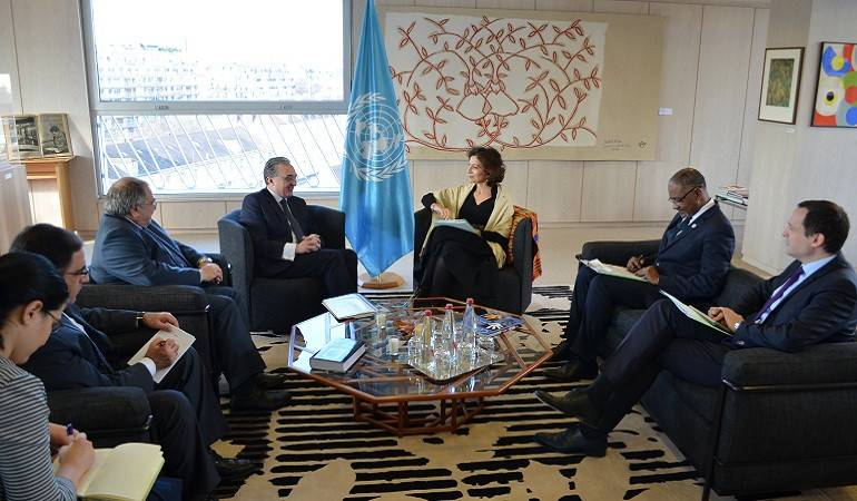 The meeting of the acting Foreign Minister Zohrab Mnatsakanyan with the UNESCO Director General