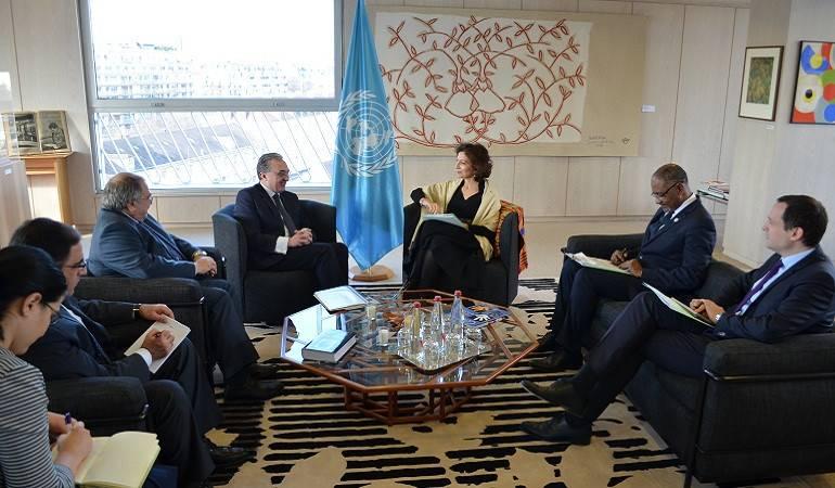 Rencontre entre Zohrab Mnatsakanyan et la Directrice générale de l'UNESCO
