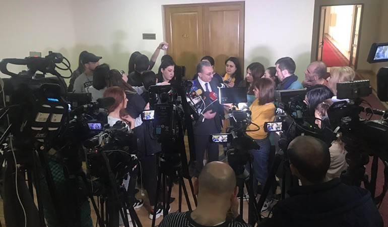 ՀՀ ԱԳ նախարար Զոհրաբ Մնացականյանի ճեպազրույցը լրագրողների հետ Ազգային Ժողովում