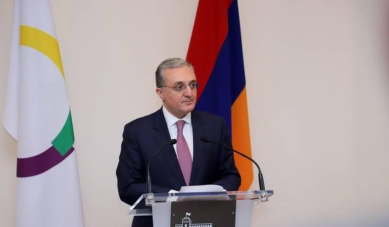 Allocution de S.E. Zohrab Mnatsakanyan Ministre des Affaires étrangères d'Arménie