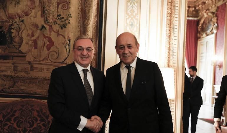 Zohrab Mnatsakanyan's meeting with Jean-Yves Le Drian
