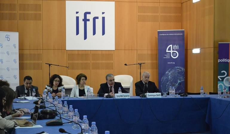 The meeting of Foreign Minister Mnatsakanyan at the French Institute of International relations