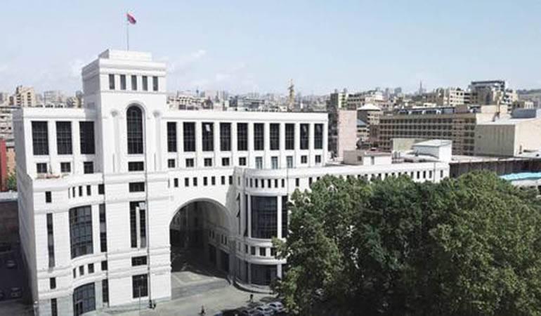 La déclaration du ministère des Affaires étrangères d'Arménie à l'occasion de la position exprimée par l'Assemblée du Portugal sur le Génocide arménien